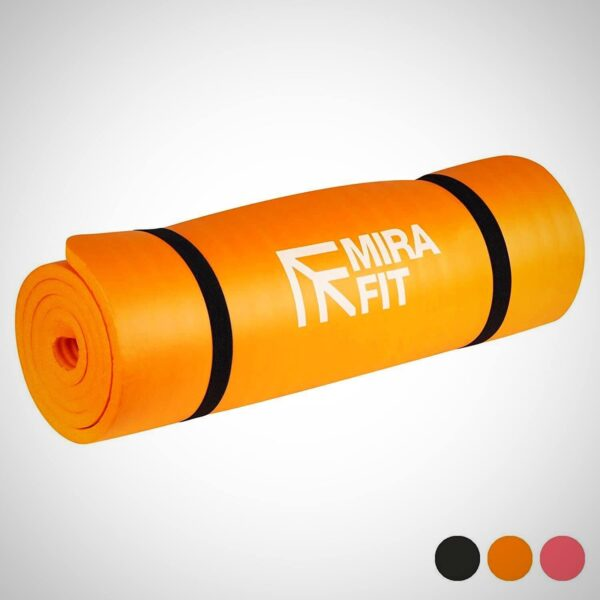 Orange EXTRA THICK EXERCISE FLOOR MAT