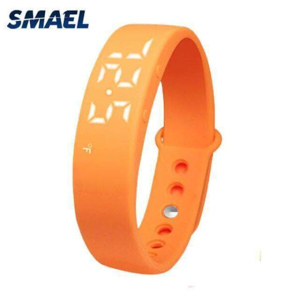 Orange stylish 3d pedometer watch