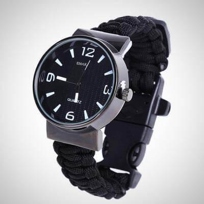 Outdoor Paracord Survival Watch Bracelet