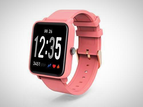 Pink BLOOD PRESSURE MONITOR SMART WATCH FITNESS TRACKER