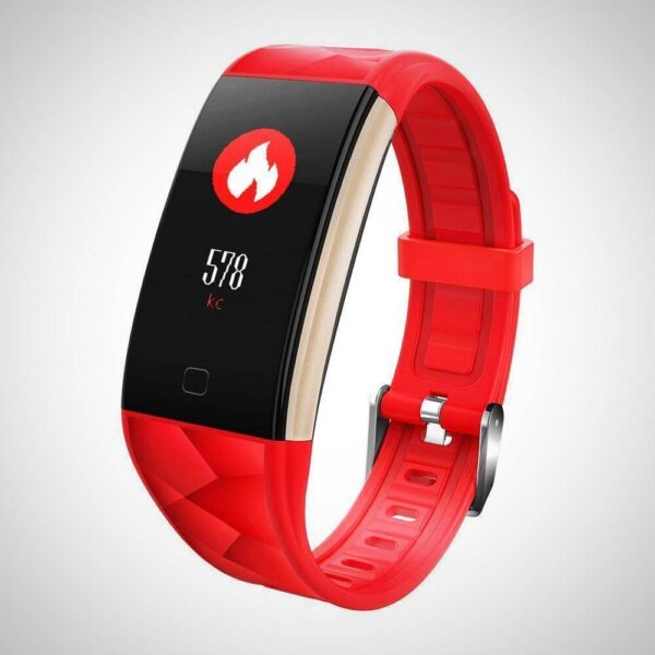 Red BLOOD PRESSURE MONITOR FITNESS SMART WATCH Band