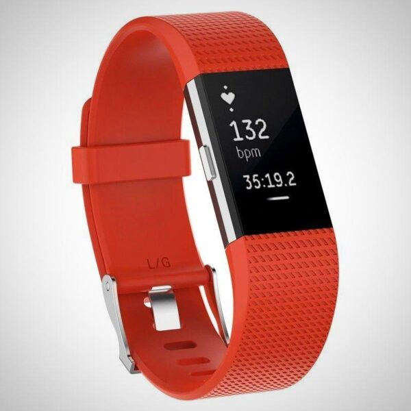 Red FITBIT CHARGE 2 REPLACEMENT STRAP SPORTS SOFT BRACELET WATCH WRISTBAND