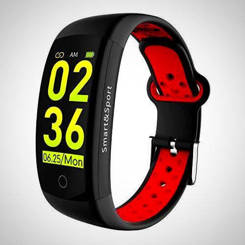 Red waterproof device to track fitness