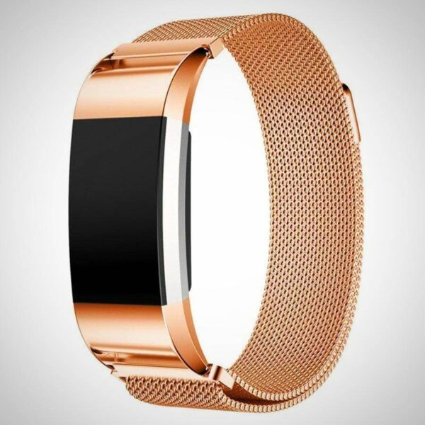 Rose Gold FITBIT CHARGE 2 BAND STRAP MAGNETIC MILANESE STAINLESS STEEL