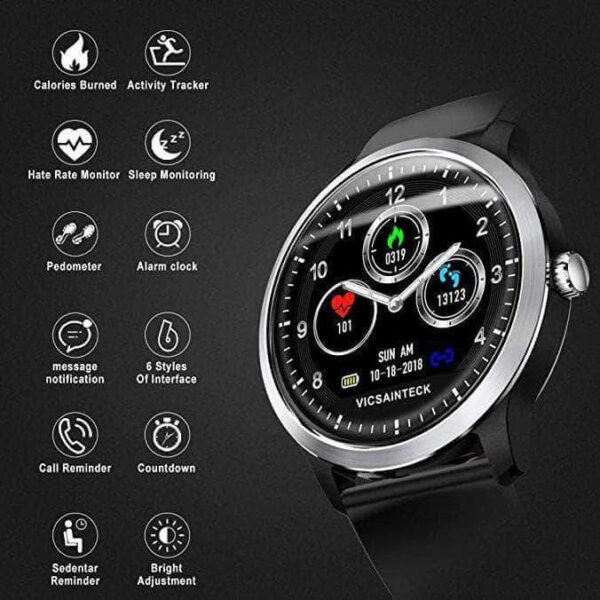 SMART SPORTS FITNESS TRACKER WITH HEART RATE MONITOR