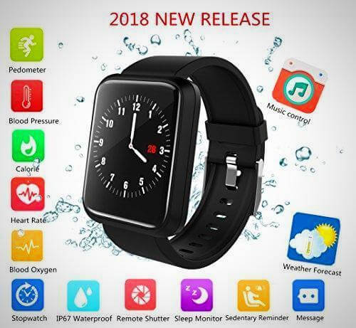 SMART WATCH FITNESS TRACKER With Blood Pressure Monitor