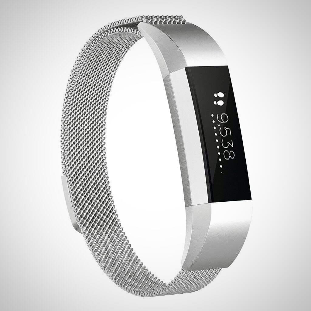Silver FITBIT ACE KIDS SS STEEL MILANESE BAND STRAP