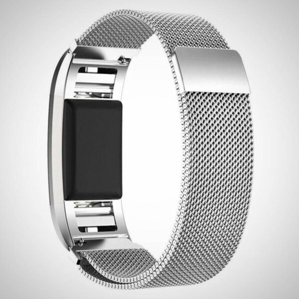 Silver Fitbit charger 2 Activity Tracker watch band