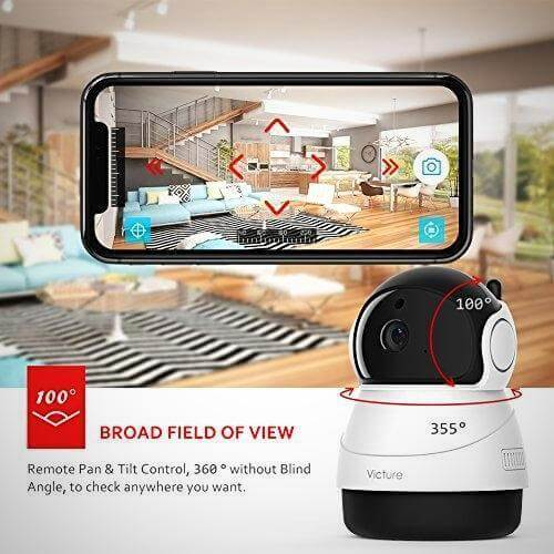 VICTURE FHD WIFI IP WIRELESS INDOOR NIGHT VISION MOTION DETECTION CAMERA 1080P