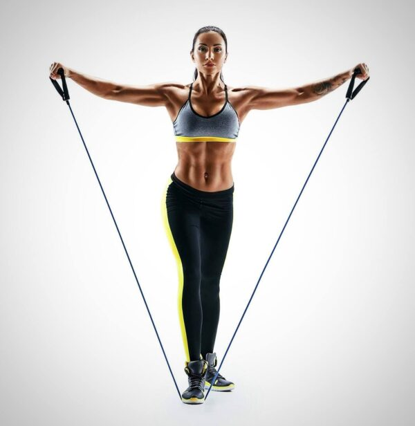WORKOUT TONING HEAVY FITNESS TUBE RESISTANCE BAND