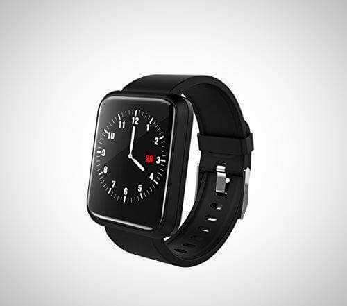 White And Black BLOOD PRESSURE MONITOR SMART WATCH FITNESS TRACKER