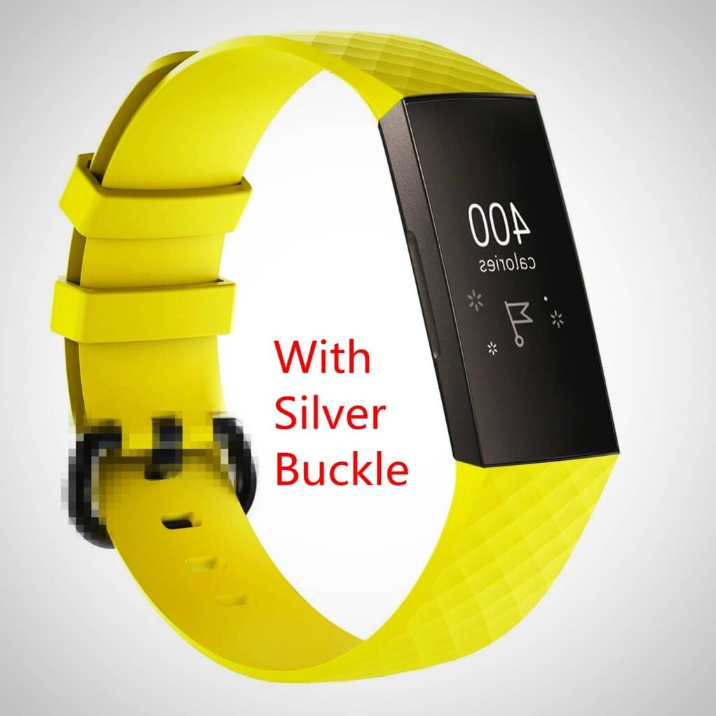 Yellow FITBIT CHARGE 3 REPLACEMENT SILICONE WATCH WRIST BAND STRAP
