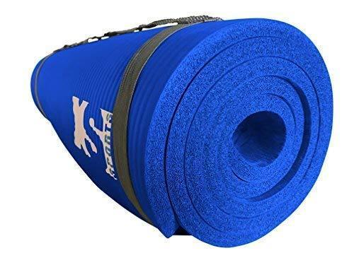 blue yoga exercise mat