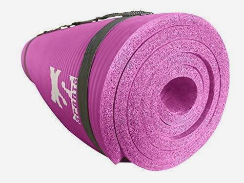 pink yoga exercise mat