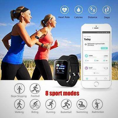wearable blood pressure monitor smartwatch fitness tracker 2020
