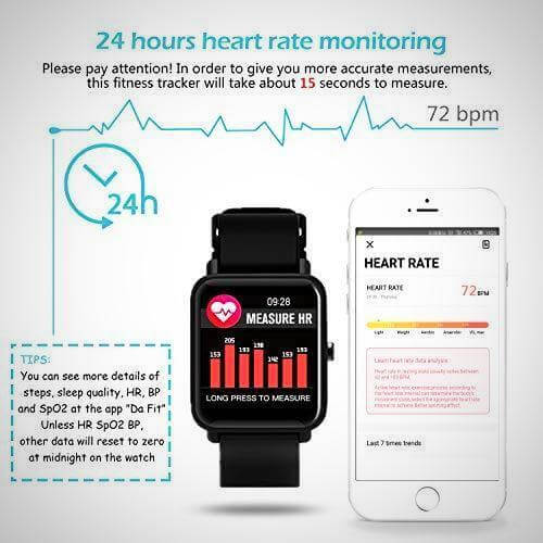 wearable blood pressure monitor smartwatch fitness tracker