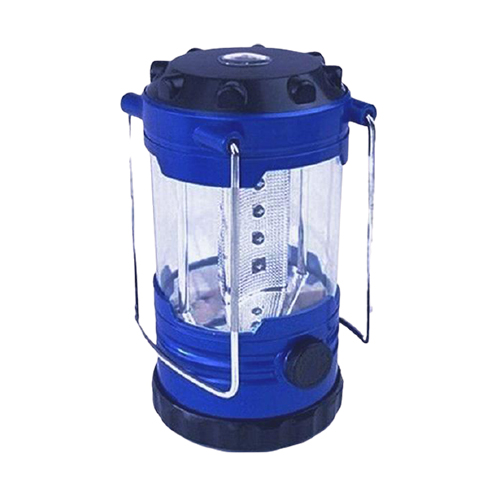 12-LED 500LM 1-MODE COLD WHITE CAMPING LAMP LANTERN W COMPASS - BLUE
