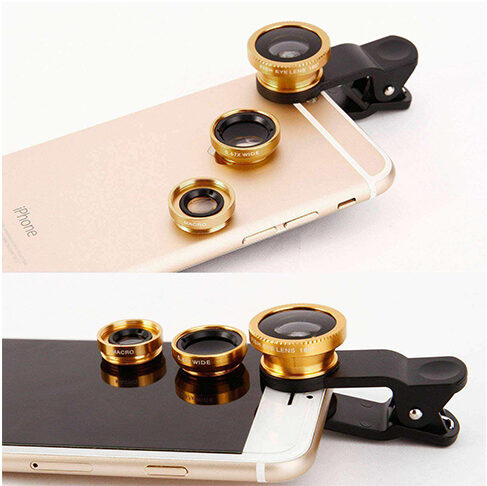 3 IN 1 MOBILE PHONE CAMERA LENS KIT FOR SAMSUNG, IPHONE