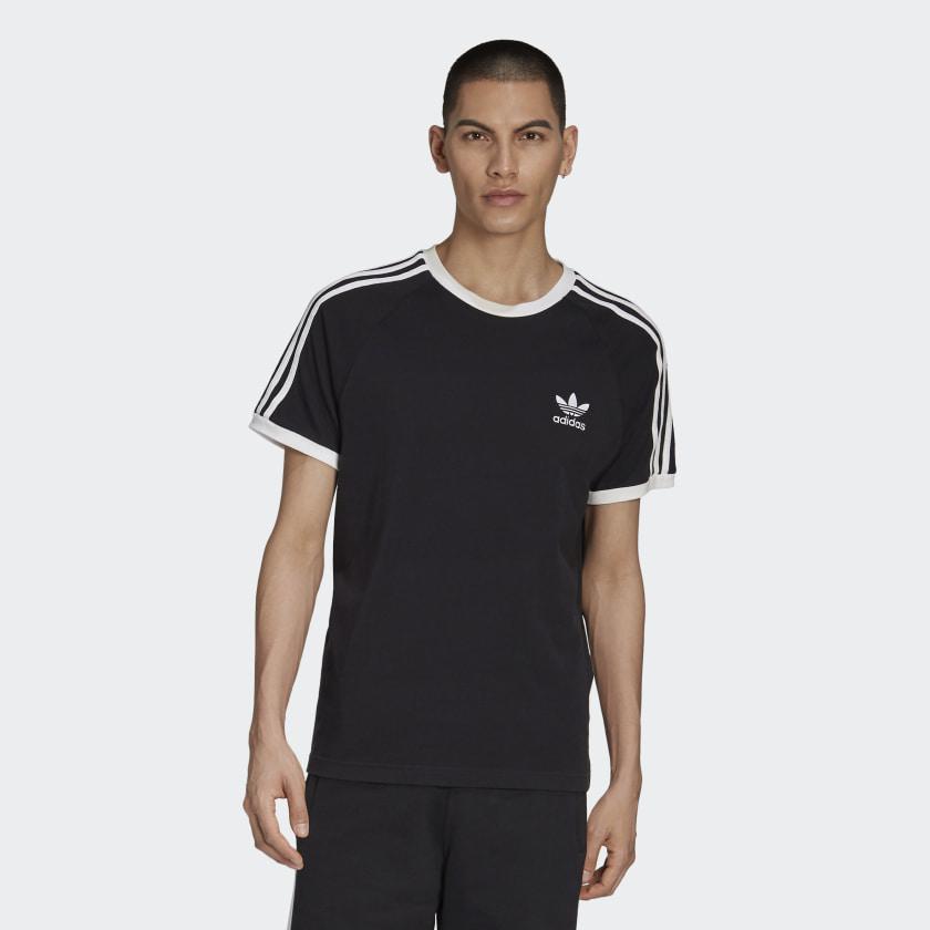 3 Stripes T Shirt Black CW1202 21 model