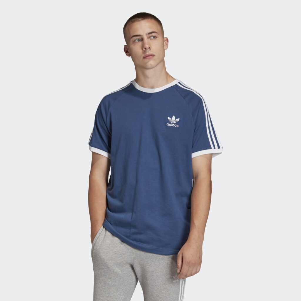 3 Stripes T Shirt Blue FM3772 FM3772 21 model