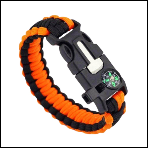 5 IN 1 SURVIVAL BRACELET MULTIFUNCTIONAL OUTDOOR PARACORD SURVIVAL GEAR