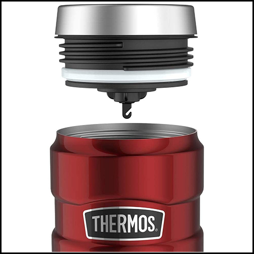 Thermos Stainless King Travel Tumbler, Red, 470 ml