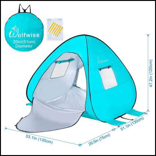 EASY POP UP BEACH SUN SHELTER TENT PORTABLE BABY CANOPY QUICK INSTANT AUTOMATIC SPORT UMBRELLA SUN SHADE