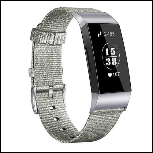FITBIT CHARGE 3 STRAP WOVEN NYLON BAND REPLACEMENT