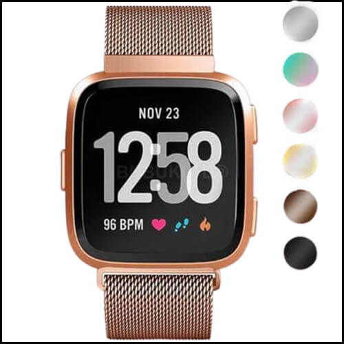 FITBIT VERSA MILANESE LOOP STAINLESS STEEL WATCH STRAP BAND