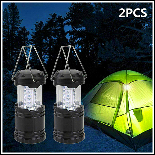 OUTDOOR LED PORTABLE CAMPING HIKING TRAVEL TORCH NIGHT LIGHT TENT LAMP