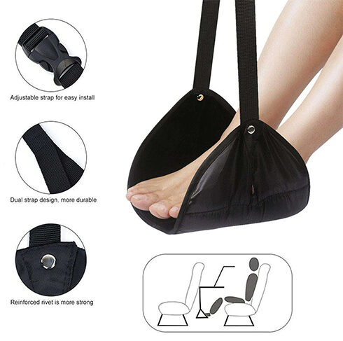 PORTABLE-TRAVEL-FOOTREST-TABLE-HANGING-FEET-CASUAL-PAD-HAMMOCK