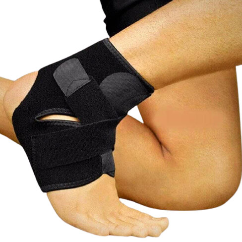 SAFETY HIGH ELASTIC ADJUSTABLE ANKLE SUPPORT BRACE BAND GUARD, FOOT BANDAGE FOR SPORTS GYM RUNNING PROTECTION