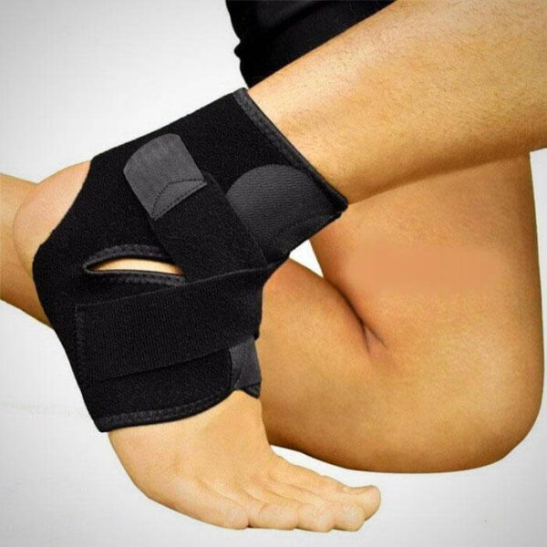 SAFETY HIGH ELASTIC ADJUSTABLE ANKLE SUPPORT BRACE BAND GUARD FOOT BANDAGE FOR SPORTS GYM RUNNING PROTECTION