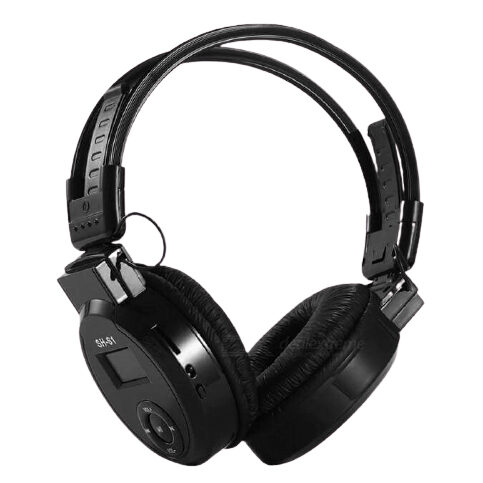 SPORTS HEADPHONE HEADSET WITH SCREEN DESIGN, SUPPORTS TF CARD FM
