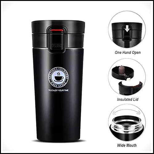 STAINLESS TRAVEL COFFEE MUG