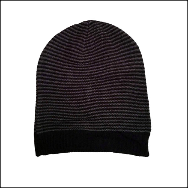 STRIPED SLOUCHY BEANIE HAT 5