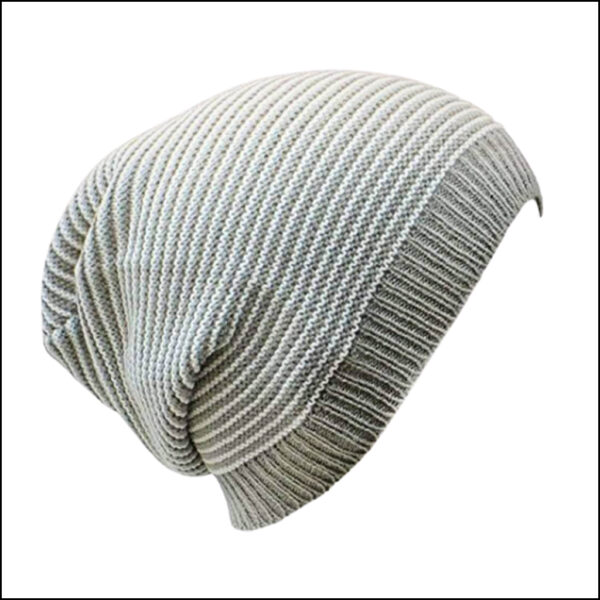 STRIPED SLOUCHY BEANIE HAT 7