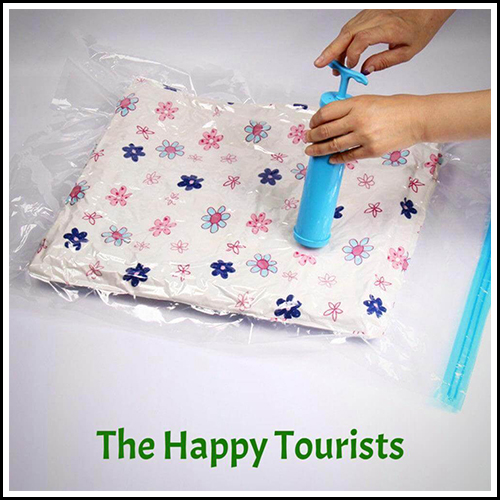STRONG VACUUM STORAGE BAG FOR TRAVELERS 6 PACKS BY THT