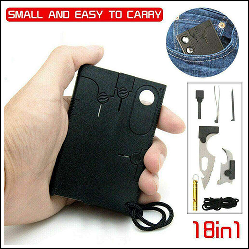UTILITY CREDIT CARD OUTDOOR CAMPING SURVIVAL MULTI TOOL COMPACT KITS