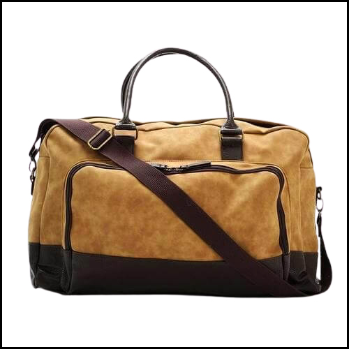 VEGAN LEATHER MARCEL TWO TONE DUFFEL BAG