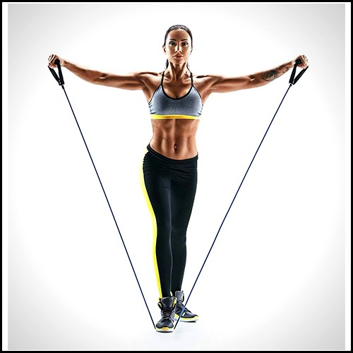 WORKOUT-TONING-HEAVY-FITNESS-TUBE-RESISTANCE-BAND