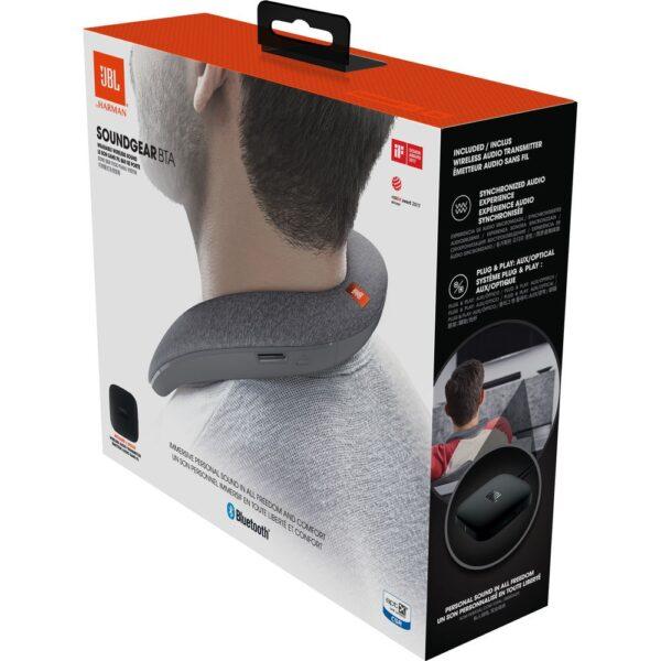 jbl soundgear bta wearable wireless speaker grey