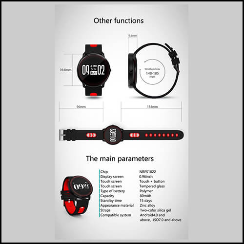 HEART RATE MONITOR WATCH – MAIKOU CF007 SMART BRACELET W/ HEART RATE MONITOR / PEDOMETER 1