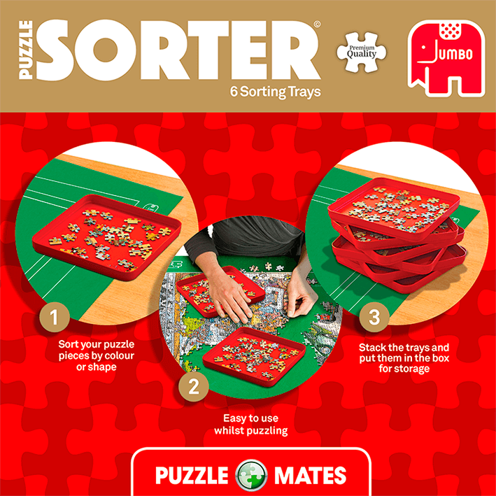 Puzzle Mates And Sorter (6 Trays 20x20cm) 4