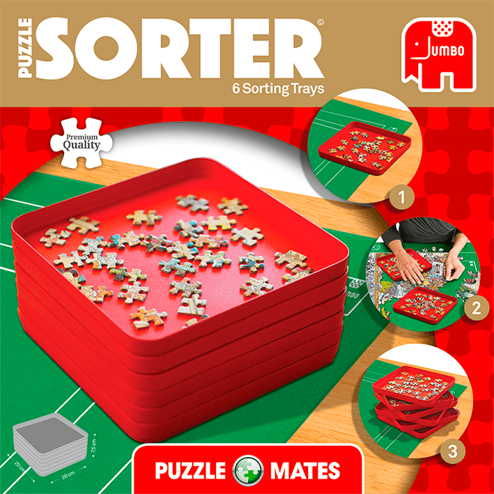 Puzzle Mates And Sorter (6 Trays 20x20cm)