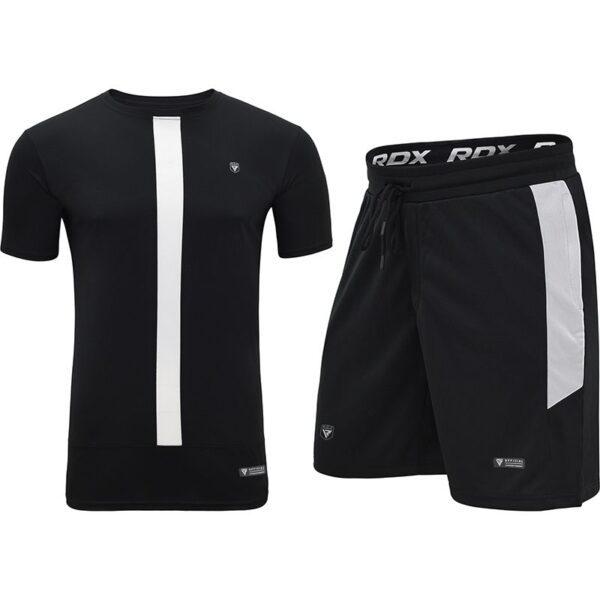 t15 nero black t shirt shorts set 1