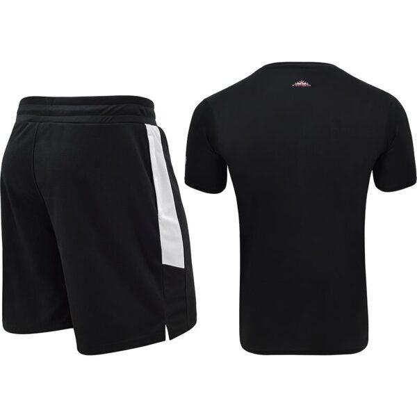 t15 nero black t shirt shorts set 5