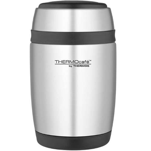 ThermoCafe Curved Food Flask with Spoon 400ml