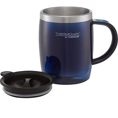 ThermoCafe Translucent Desk Mug blue 450ml