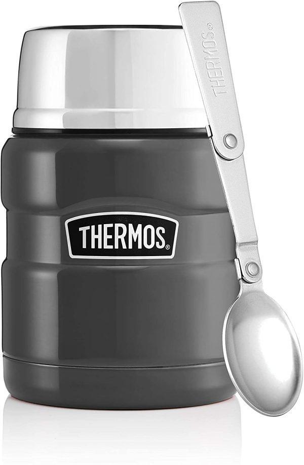 Thermos Stainless King Food Flask 710ml Gun Metal